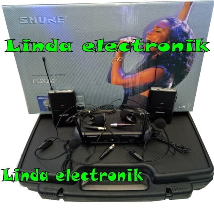 harga Murah mic shure pgx 242 (2bh clip on+2bh headset) Tokopedia.com