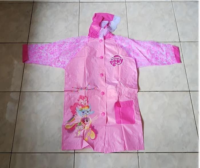 Jas hujan anak model terusan kode 1701 motif little pony kuda pony