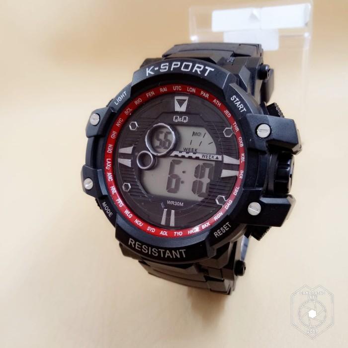 Jual Jam Tangan Pria Cowok Q Q Digital Sport Tali Rubber Karet Ksport Harga Rp 70.000
