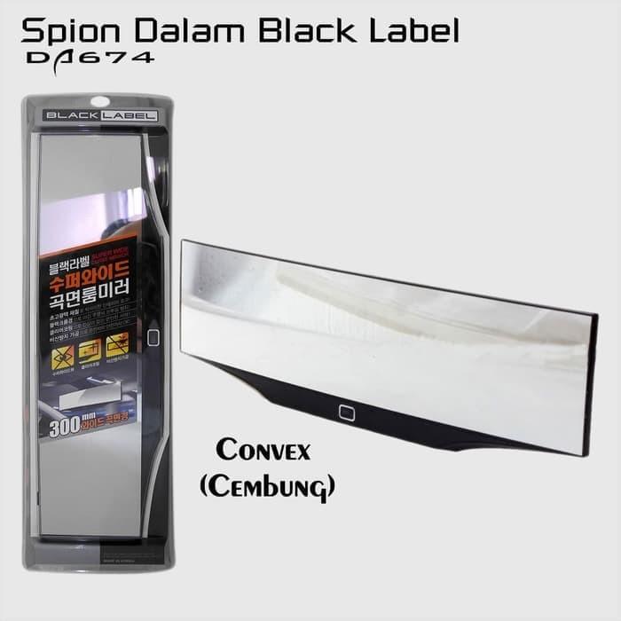 Berkualitas BLACK LABEL DA674 Spion Dalam Mobil Convex Mirror - Dat