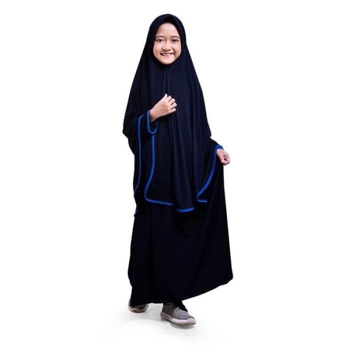 Jual BAJUYULI Baju Gamis Anak Perempuan Syari Jersey Murah Navy ... ff648f1050