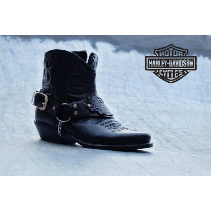 Jual Sepatu Boots Pria Sepatu Harley Davidson Sepatu Touring Travel ... 1a4cecb281