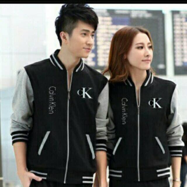 Jaket Couple / Jaket Pasangan / Sweater Couple / Sweater Pasangan CK - Hitam