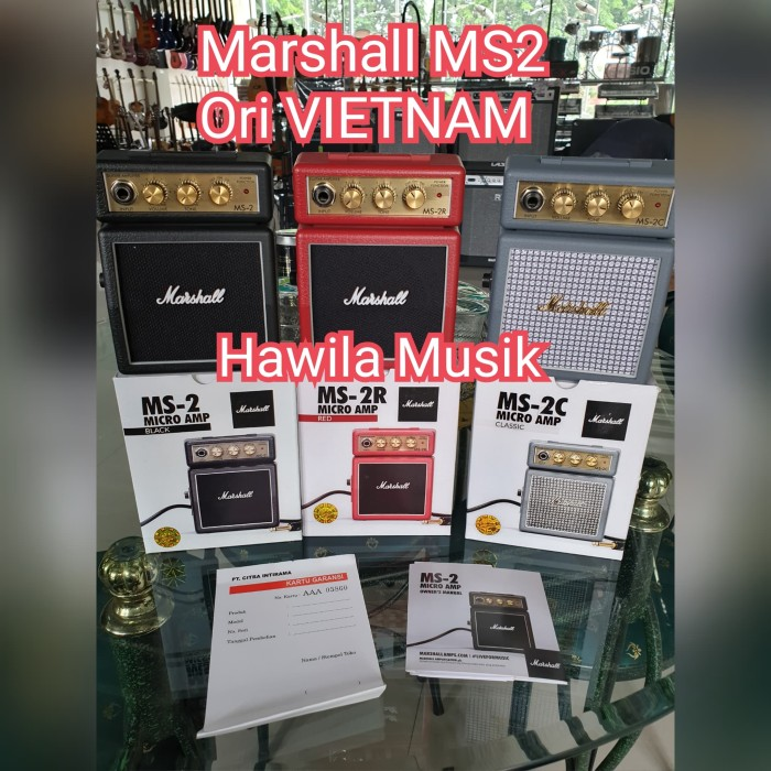 harga Marshall ms-2 /ms2 mini amp/speaker Tokopedia.com