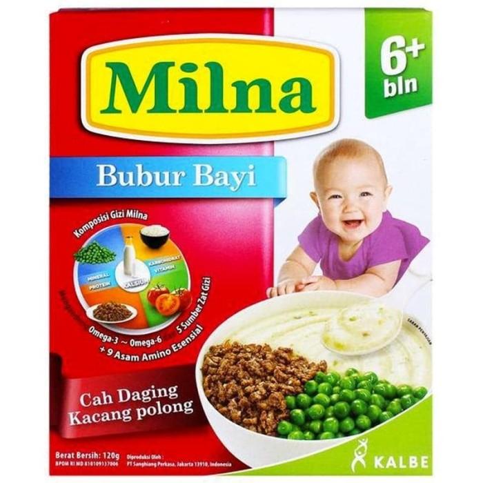 harga Milna bubur bayi cah daging kacang polong Tokopedia.com