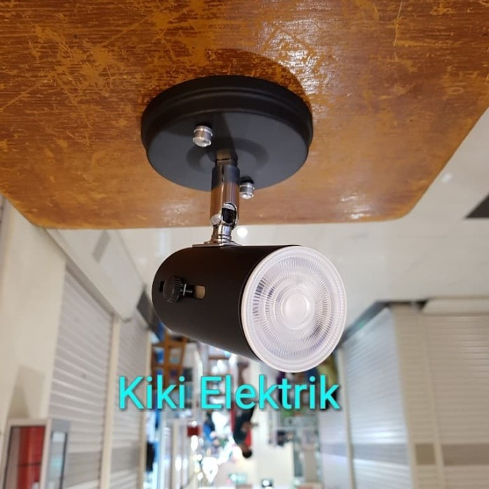 Foto Produk Lampu Sorot LED / Lampu Spot Light Hitam MURAH !!! ( Plafon / E27 ) - Kuning dari Kiki Elektrik