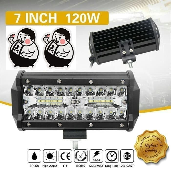 harga Lampu sorot offroad led bar cree 120 watt mobil motor Tokopedia.com
