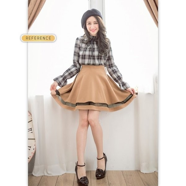 variasi rok Mesh Flare Skirt Rok A-Line Wanita Wedges Lotto RK134