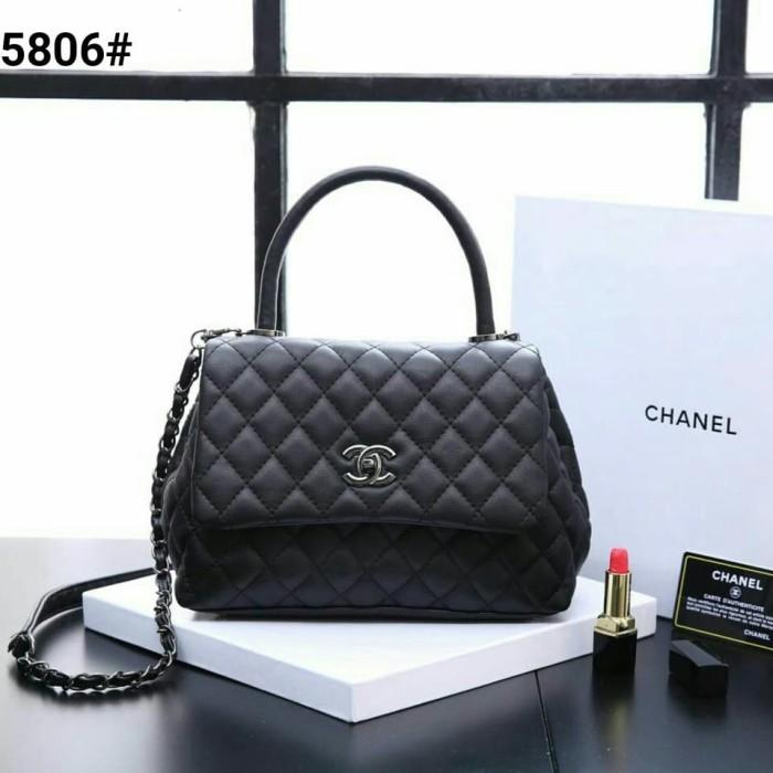 4666d7bae0dd Jual RESTOK!! CHANEL COCO TOP HANDLE CALFSKIN 25CM WITH BOX SVL5806 ...