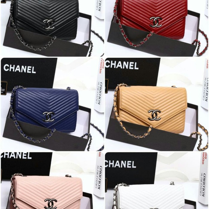 c790258a15a8 Jual CHANEL ENVELOPE CHEVRON SHOULDER BAG WITH BOX VL553 - Kota ...