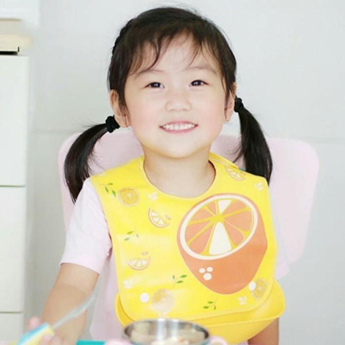 Bib Silikon Slaber Celemek Makan Anak Bayi Tatakan Liur Baby Apron