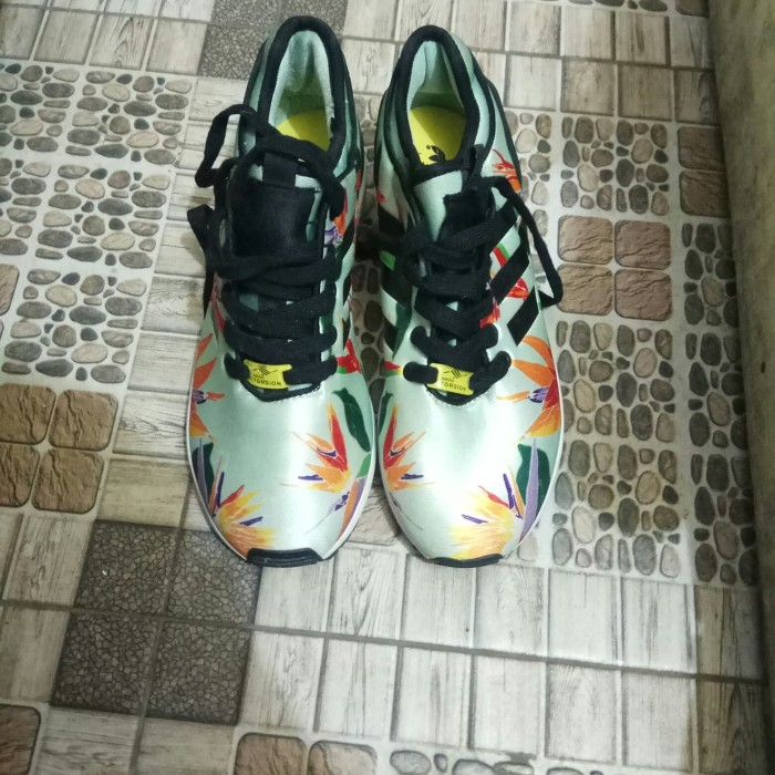 super popular 3f0bf 113e5 Jual Adidas zx flux green floral Size 41⅓ - Kota Depok - Sneakerhead.2nd |  Tokopedia
