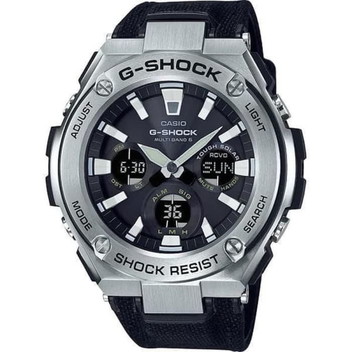 Casio g-shock gst-s130c-1adr - jam tangan pria - hitam