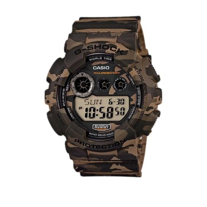harga Casio g-shock gd-120cm-5dr - jam tangan pria - hijau kamuflase Tokopedia.com