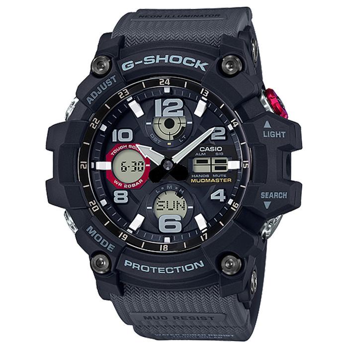 Casio g-shock gsg-100-1a8dr - jam tangan pria - abu-abu gelap