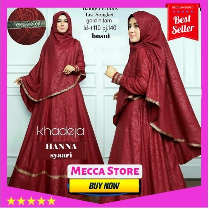 ... harga Baju atasan gamis wanita muslim - hanna syari - dress pesta hijab  Tokopedia.com 35a51c7898