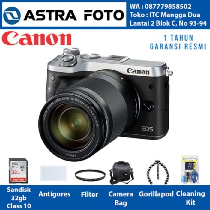 Canon EOS M6 Canon M6 Kit 18-150mm Paket Dahsyat 32gb