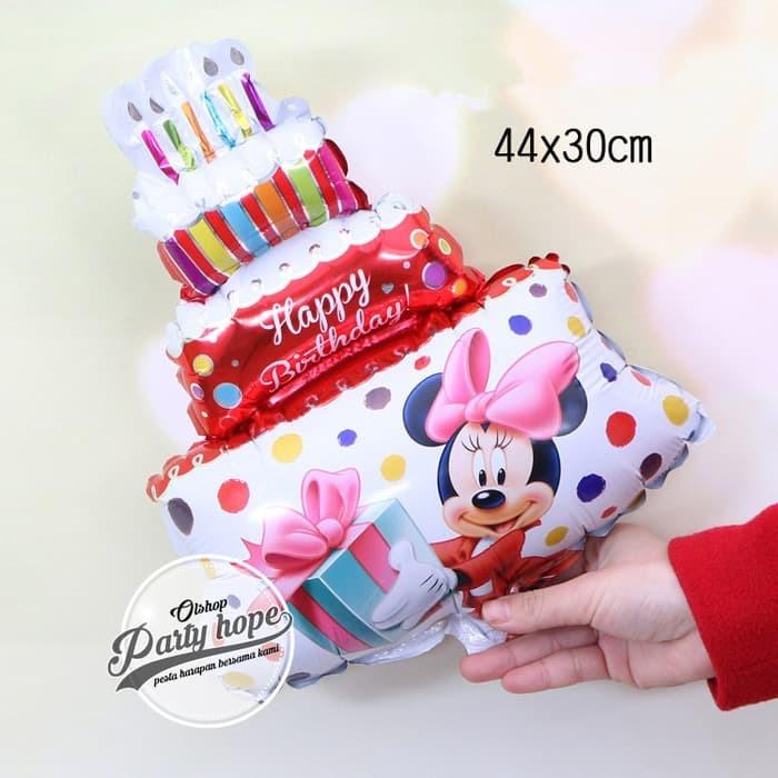 balon foil cake minnie mouse merah / balon foil mini / balon cupcake