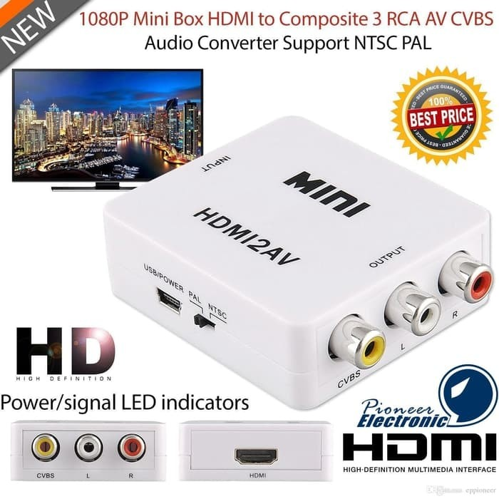 Foto Produk HDMI to AV RCA converter adapter dari mix acc888