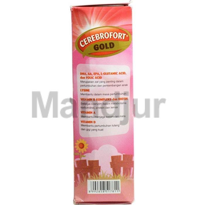 Best Cerebrofort Gold Rasa Strawberry 100 mL - Multivitamin