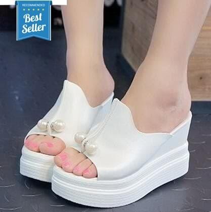Dijual Sandal Wedges Wanita Sepatu Wedges Wanita Mutiara Murah Di ... 5fb825b900