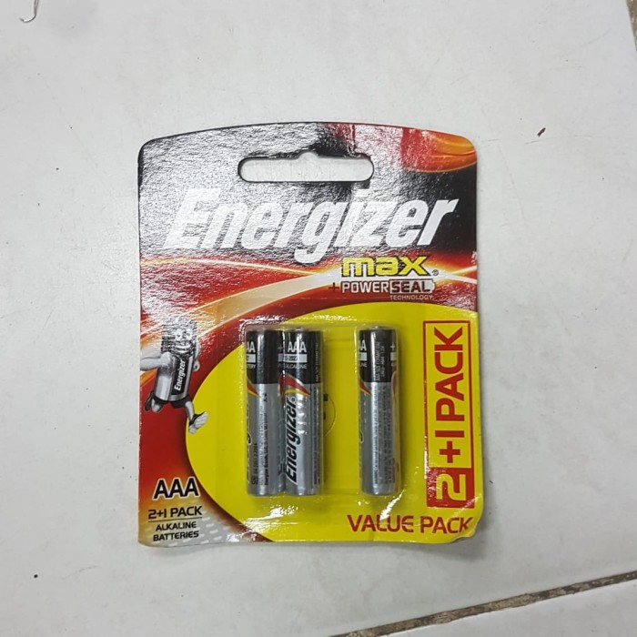 Foto Produk Baterai battery batere batre batu batrei energizer max a3 aaa isi 3pcs dari TB-ACC