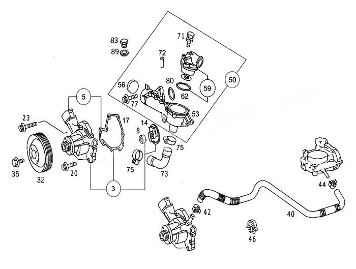Jual Water Pump Mercy Benz Mesin M111 C200 E200 Kompressor