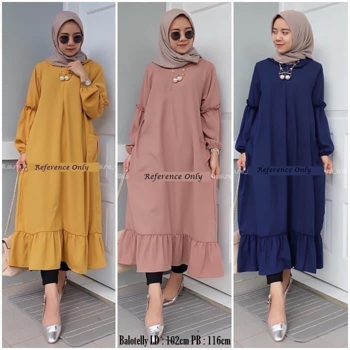Jual Model Baju Wanita 2019 Lalune Long Tunik Yellow Kota Bandung Fariza Hijab Store Tokopedia