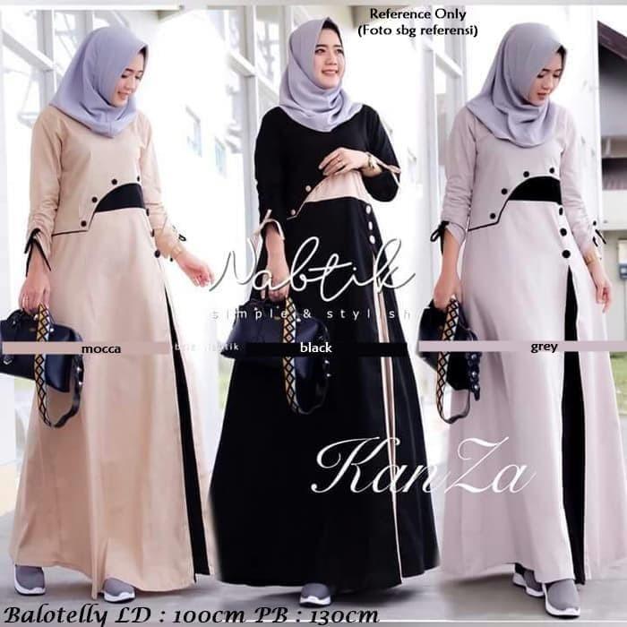 Jual Model Baju Wanita 2019 Kanza Dress Mocca Kota Bandung Fariza Hijab Store Tokopedia
