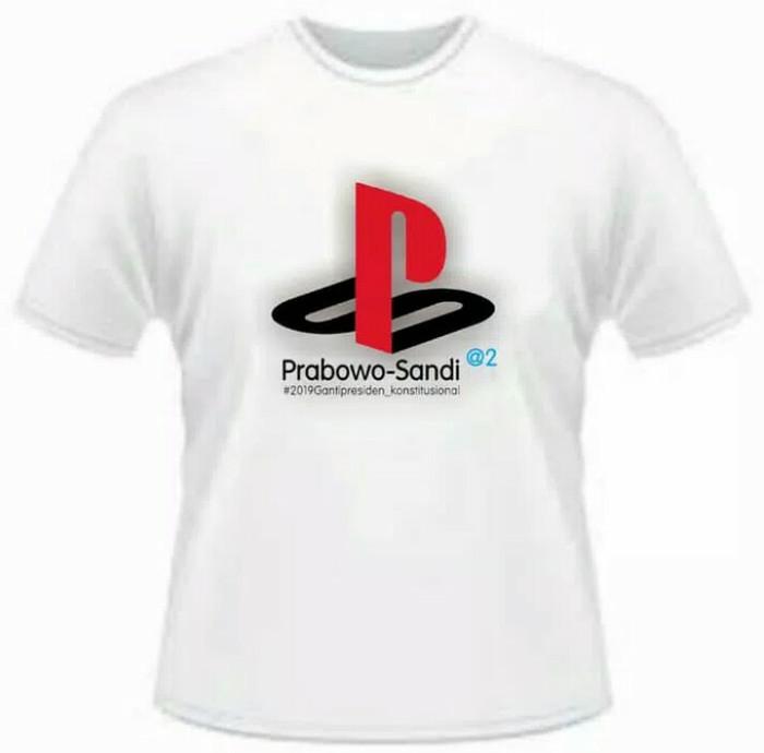 Tshirt kaos baju ps 2019 prabowo sandi terbaru bahan distro top cutton