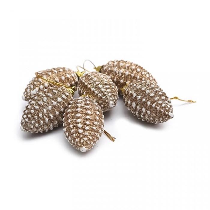 harga Hiasan pinus gold lonjong isi 6-hiasan pinus natal Tokopedia.com