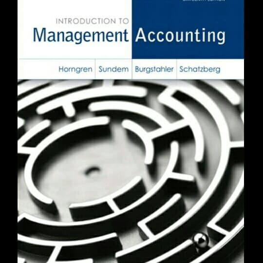 harga Introduction to management accounting 16th sixteenth edition horngren Tokopedia.com