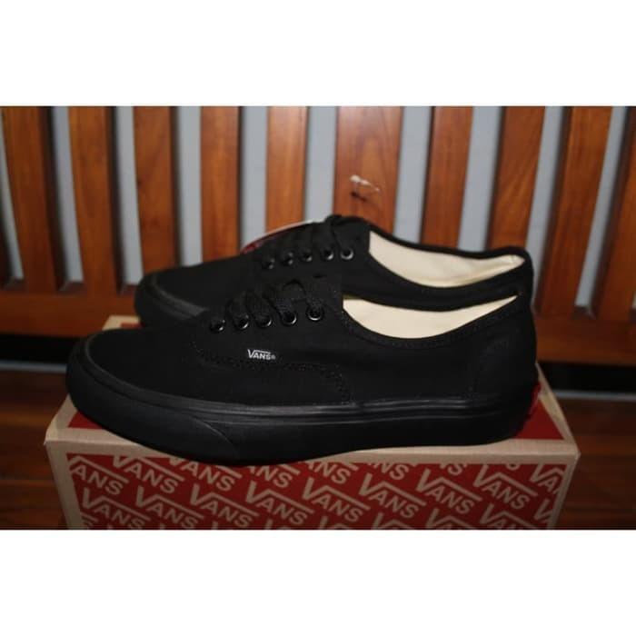 Sepatu Vans Authentic Full Black Hitam Premium Import Waffle IFC - Hit 03a0fa2ee