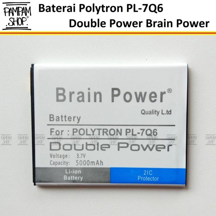 Baterai Polytron Rocket Q-Five Q5 R1500 PL-7Q6 PL7Q6 Double Power Ori