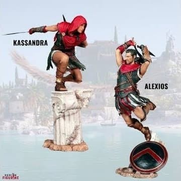 Jual Assassin Creed Odyssey Alexios Kassandra Figure Only