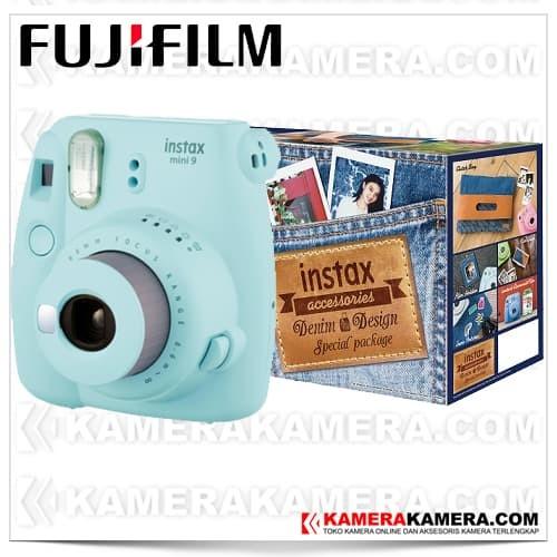 harga Fujifilm instax mini 9 denim package (ice blue) Tokopedia.com