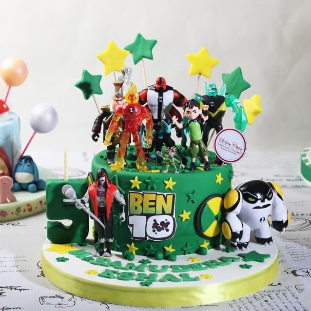 harga Kue ulang tahun ben 10 / diameter 20 cm / mohon baca keterangan Tokopedia.com