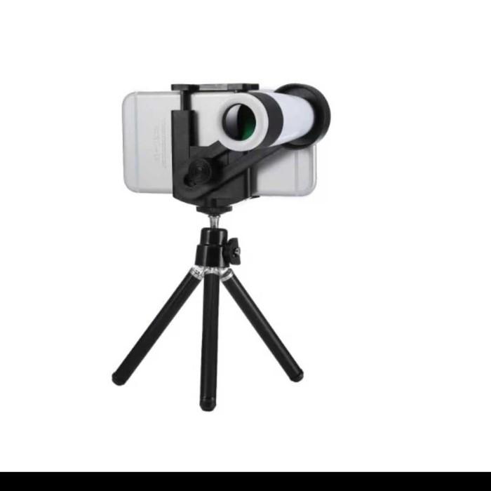 harga Lensa hp telezoom 12x universal kamera zoom tripod dan jepit murah Tokopedia.com