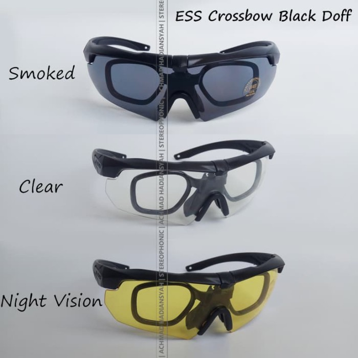harga Safety eyewear military style ess crossbow - black Tokopedia.com