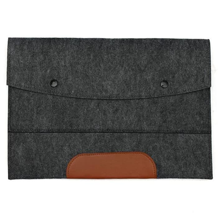 harga Tas laptop sarung softcase sleeve wool envelope 14 inch abu tua Tokopedia.com