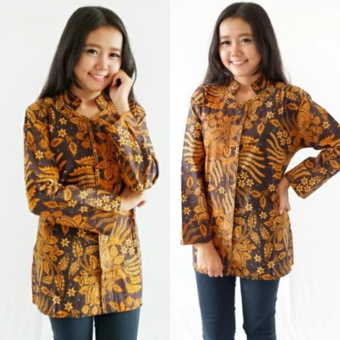 harga Blus blouse kemeja atasan wanita kantoran batik murah grosir cantik se Tokopedia.com