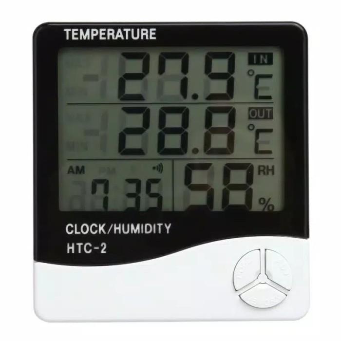 HTC 2 Hygrometer Termometer Digital alat ukur suhu kelembapan