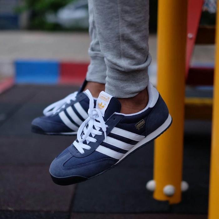 adidas dragon navy blue cheap online