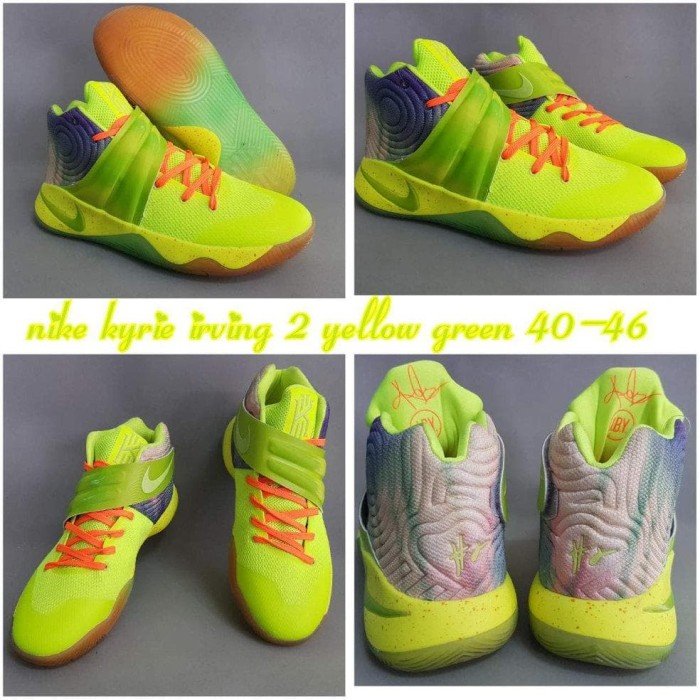 buy popular 44339 2d14c Sepatu Basket Nike Kyrie 2 Yellow Green Premium Import Quality