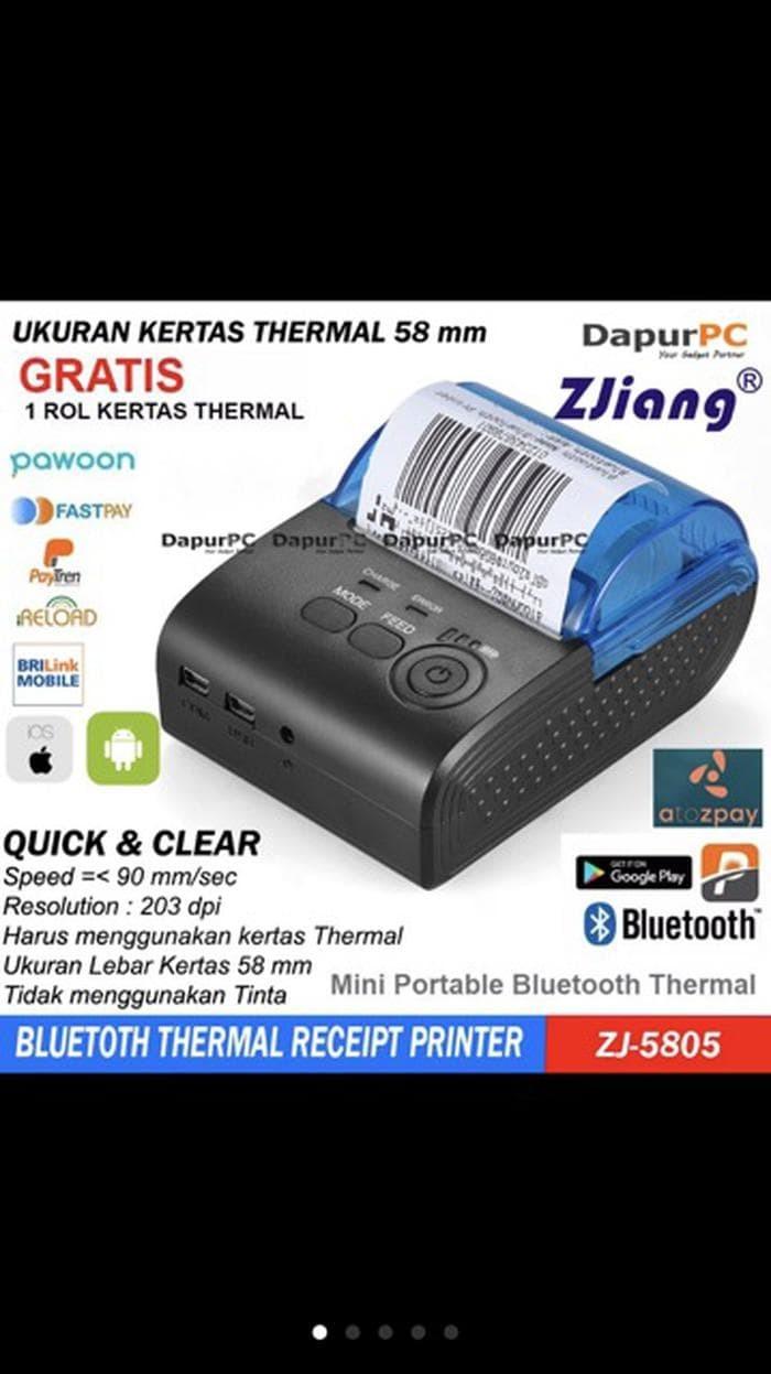 Jual GRATIS 8 Roll Kertas Refill Bluetooth Printer 58 Mm Z Murah Jakarta Barat Benua Shop45