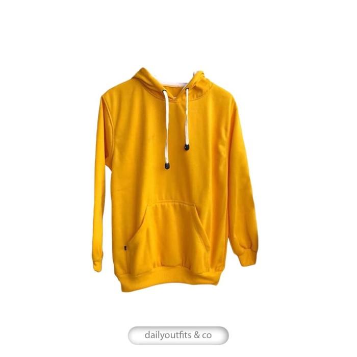Jual Jaket Sweater Polos Hoodie Jumper Fleece Kuning Unisex Premium ... 6208206b93