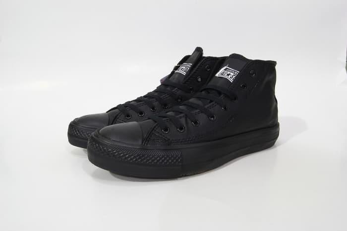 Jual Sepatu Converse All Star Full Black Leather Kota Medan All Straz Shoes Tokopedia
