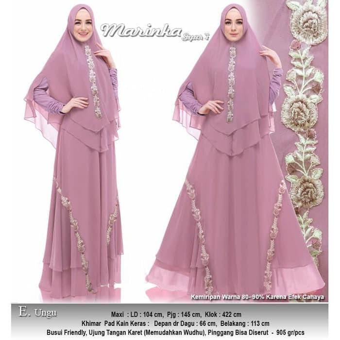 Jual Baju Busana Muslim Wanita Gamis Syari Pesta Marinka Terbaru ... fc06eee3b9