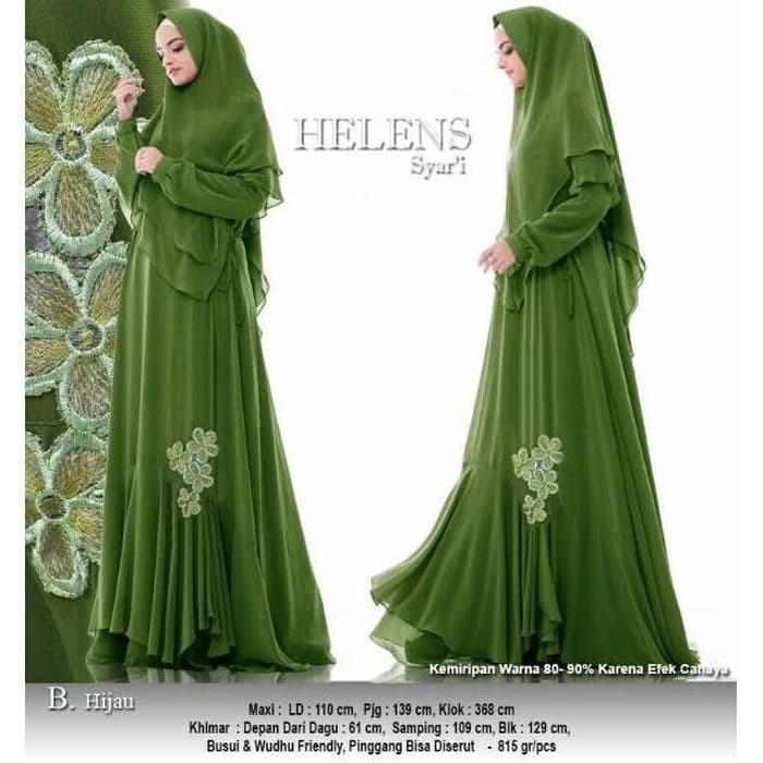 Jual Baju Busana Muslim Wanita Gamis Syari Pesta Helens Ceruty ... 1367a1251c