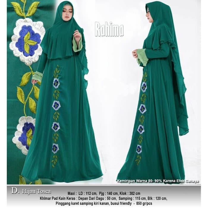 Jual Baju Busana Muslim Wanita Gamis Syari Pesta Rahima Terbaru ... c7ec6aeb9c